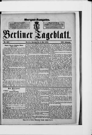 Berliner Tageblatt und Handels-Zeitung vom 06.05.1883