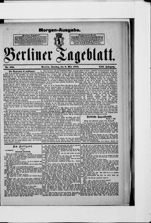 Berliner Tageblatt und Handels-Zeitung vom 08.05.1883