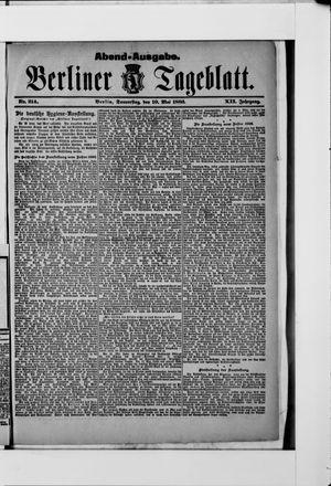 Berliner Tageblatt und Handels-Zeitung vom 10.05.1883