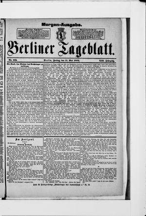 Berliner Tageblatt und Handels-Zeitung vom 11.05.1883