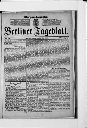 Berliner Tageblatt und Handels-Zeitung vom 13.05.1883