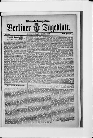 Berliner Tageblatt und Handels-Zeitung vom 15.05.1883