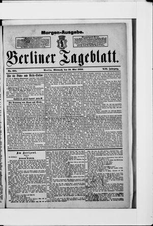 Berliner Tageblatt und Handels-Zeitung on May 16, 1883