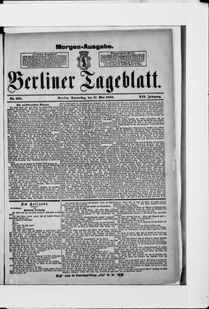 Berliner Tageblatt und Handels-Zeitung vom 17.05.1883