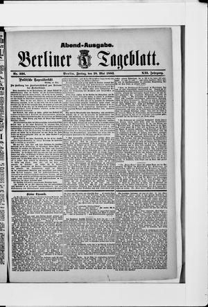 Berliner Tageblatt und Handels-Zeitung vom 18.05.1883
