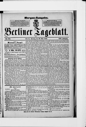 Berliner Tageblatt und Handels-Zeitung vom 20.05.1883