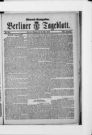 Berliner Tageblatt und Handels-Zeitung vom 21.05.1883