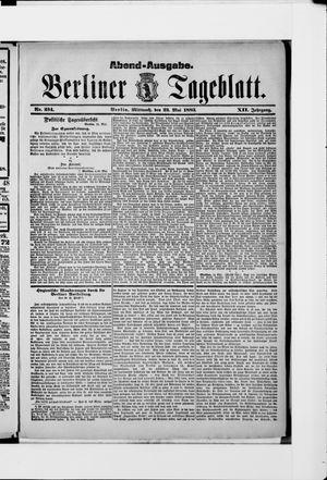 Berliner Tageblatt und Handels-Zeitung vom 23.05.1883