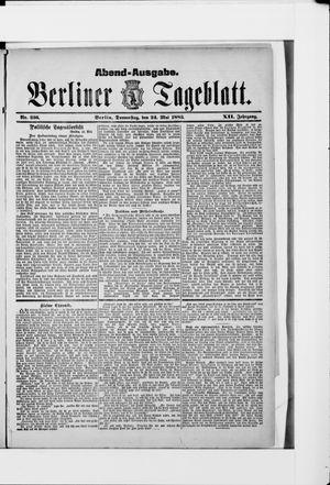 Berliner Tageblatt und Handels-Zeitung vom 24.05.1883