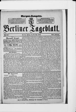 Berliner Tageblatt und Handels-Zeitung vom 25.05.1883