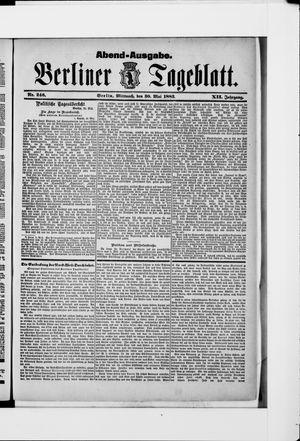 Berliner Tageblatt und Handels-Zeitung vom 30.05.1883