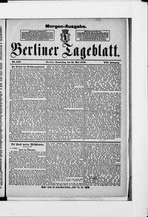 Berliner Tageblatt und Handels-Zeitung vom 31.05.1883