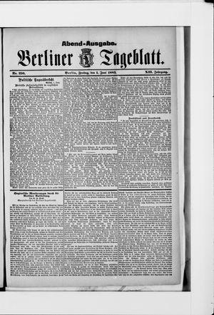 Berliner Tageblatt und Handels-Zeitung vom 01.06.1883