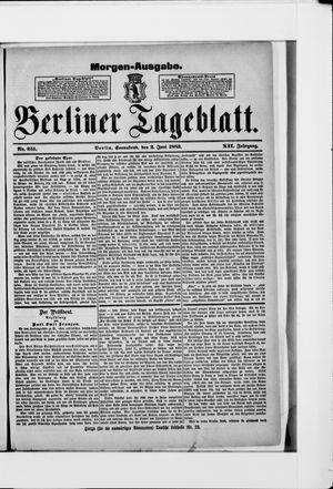 Berliner Tageblatt und Handels-Zeitung vom 02.06.1883