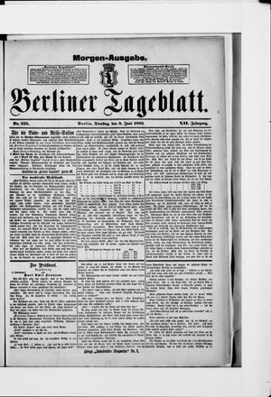 Berliner Tageblatt und Handels-Zeitung vom 05.06.1883
