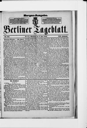 Berliner Tageblatt und Handels-Zeitung vom 06.06.1883