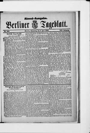 Berliner Tageblatt und Handels-Zeitung vom 07.06.1883