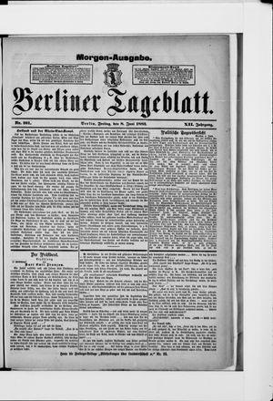 Berliner Tageblatt und Handels-Zeitung vom 08.06.1883