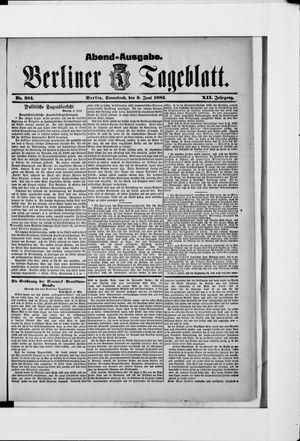 Berliner Tageblatt und Handels-Zeitung vom 09.06.1883