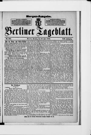 Berliner Tageblatt und Handels-Zeitung vom 10.06.1883