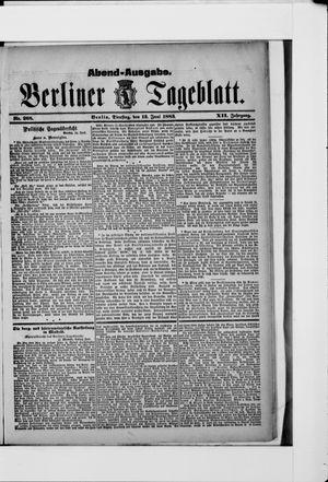 Berliner Tageblatt und Handels-Zeitung vom 12.06.1883