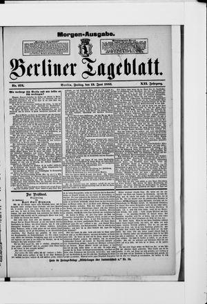 Berliner Tageblatt und Handels-Zeitung vom 15.06.1883