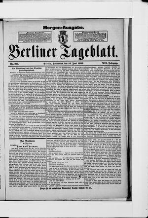 Berliner Tageblatt und Handels-Zeitung vom 16.06.1883