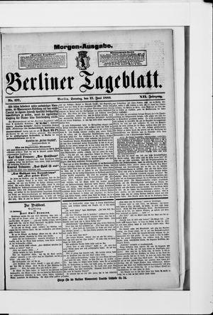 Berliner Tageblatt und Handels-Zeitung vom 17.06.1883