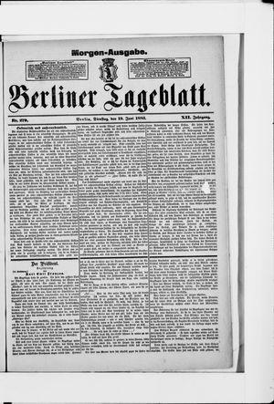 Berliner Tageblatt und Handels-Zeitung vom 19.06.1883