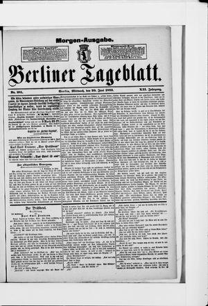 Berliner Tageblatt und Handels-Zeitung vom 20.06.1883