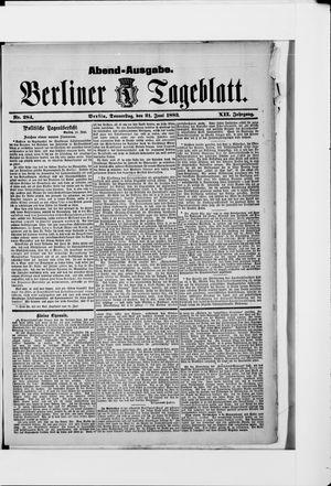 Berliner Tageblatt und Handels-Zeitung vom 21.06.1883
