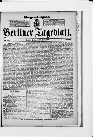 Berliner Tageblatt und Handels-Zeitung vom 22.06.1883