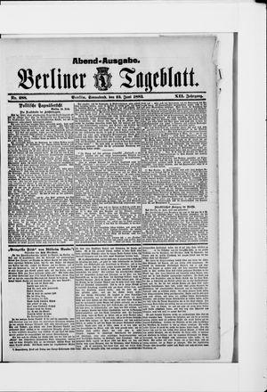 Berliner Tageblatt und Handels-Zeitung vom 23.06.1883