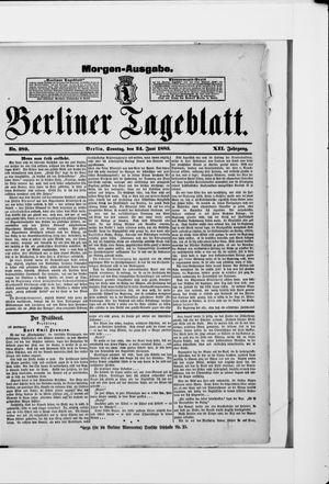 Berliner Tageblatt und Handels-Zeitung vom 24.06.1883