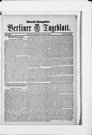 Berliner Tageblatt und Handels-Zeitung vom 26.06.1883