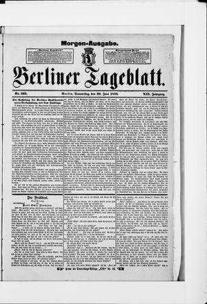 Berliner Tageblatt und Handels-Zeitung vom 28.06.1883