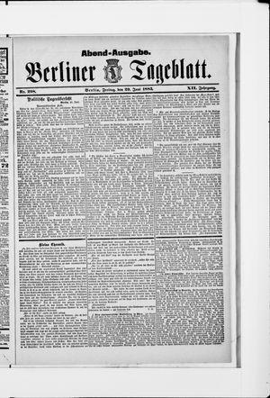 Berliner Tageblatt und Handels-Zeitung vom 29.06.1883
