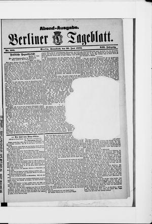 Berliner Tageblatt und Handels-Zeitung vom 30.06.1883