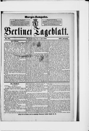 Berliner Tageblatt und Handels-Zeitung vom 01.07.1883
