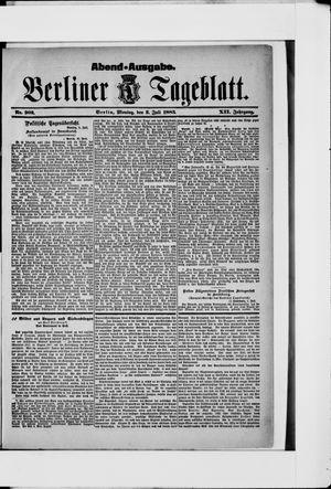 Berliner Tageblatt und Handels-Zeitung vom 02.07.1883