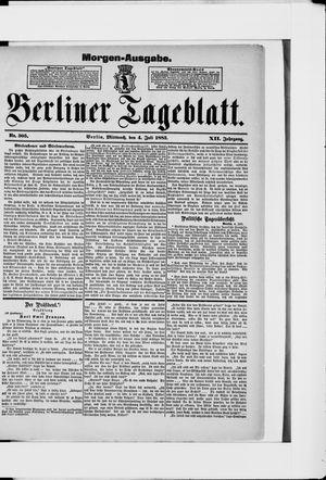 Berliner Tageblatt und Handels-Zeitung vom 04.07.1883