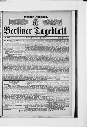 Berliner Tageblatt und Handels-Zeitung vom 06.07.1883