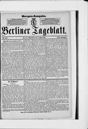 Berliner Tageblatt und Handels-Zeitung vom 07.07.1883