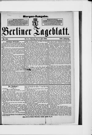 Berliner Tageblatt und Handels-Zeitung vom 08.07.1883