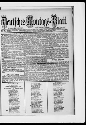 Berliner Tageblatt und Handels-Zeitung on Jul 9, 1883