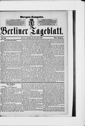 Berliner Tageblatt und Handels-Zeitung on Jul 10, 1883