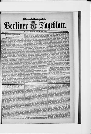 Berliner Tageblatt und Handels-Zeitung vom 11.07.1883