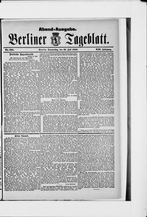 Berliner Tageblatt und Handels-Zeitung vom 12.07.1883