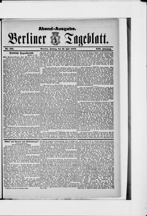 Berliner Tageblatt und Handels-Zeitung vom 13.07.1883