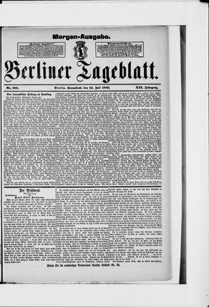 Berliner Tageblatt und Handels-Zeitung vom 14.07.1883